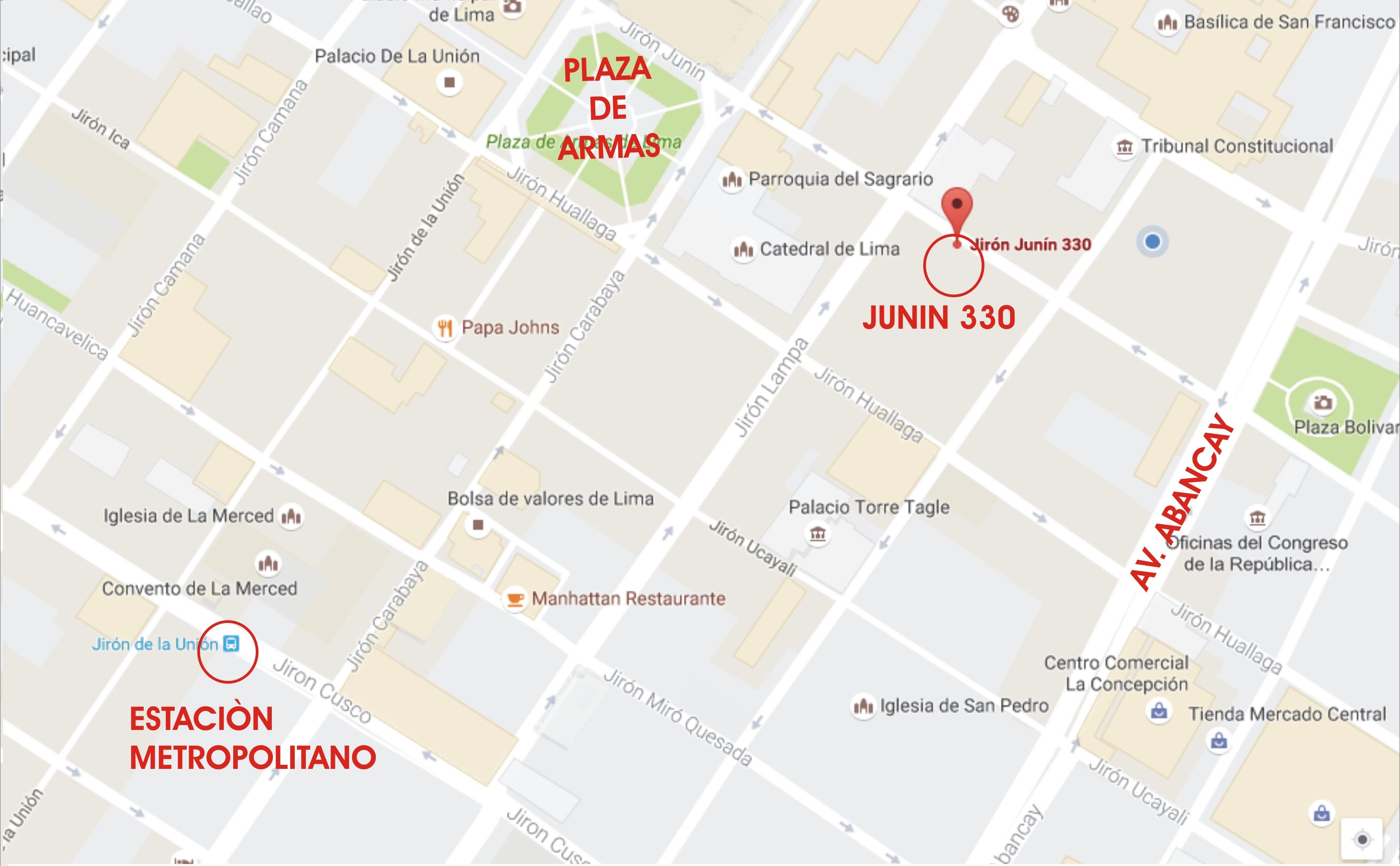 JR JUNIN 330 MAPA